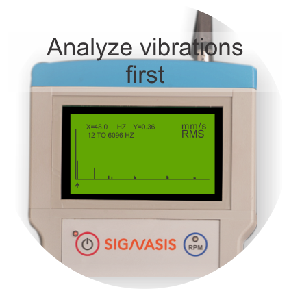 Analyze vibrations with real time FFT spectrum